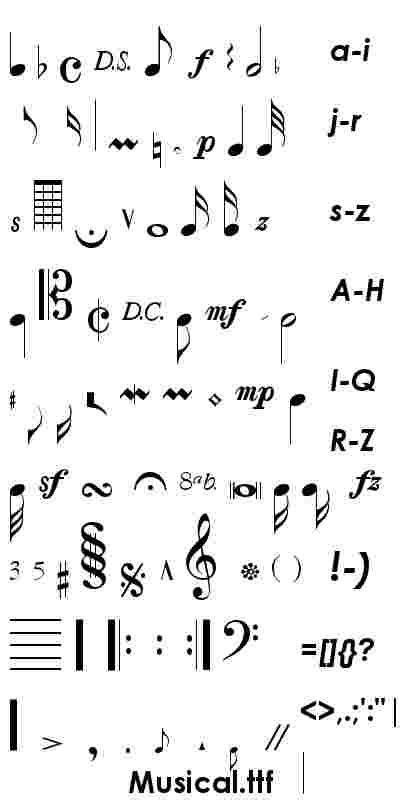 printable music font 16 musical alphabet font images music note letters font