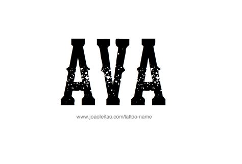 ava tattoo design name 29 png