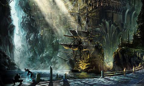 computer wallpaper paintings pirate ship paintings fantasy ship pirate magic cities