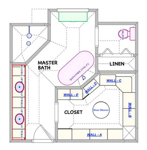 large master bathroom floor plans closet layout ideas astonishing bathroom floor plans