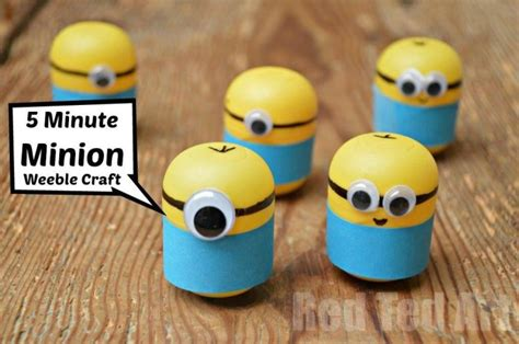 craft ideas for 5 minion craft ideas weebles a 5 minute craft