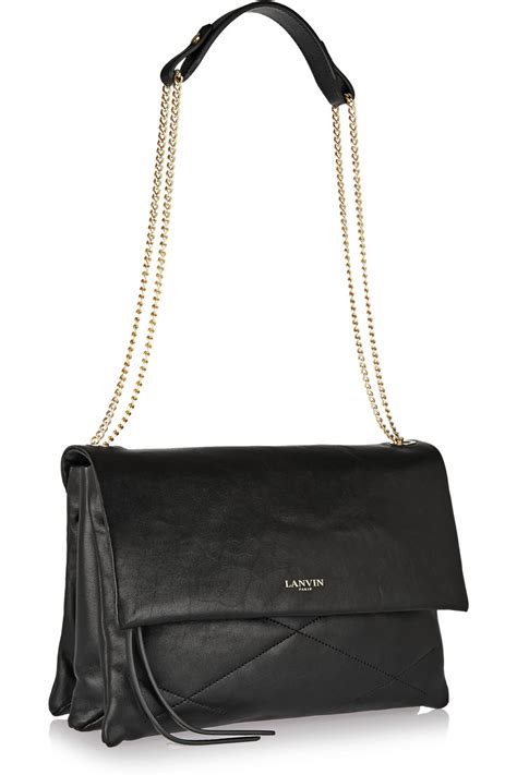 Quilted Leather Bag by Lanvin Sugar Quilted Leather Shoulder Bag In Black Lyst