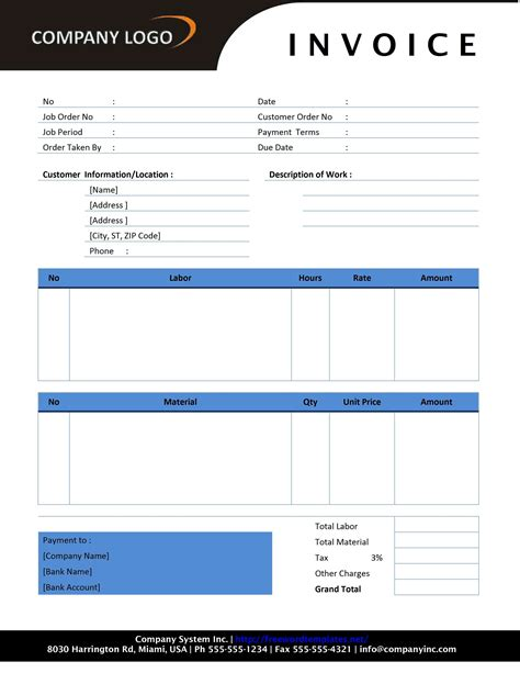 template for invoicing free invoice template sle invoice format printable
