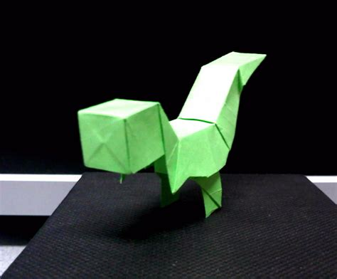 Origami Blocks - origami block t rex by theorigamiarchitect on deviantart