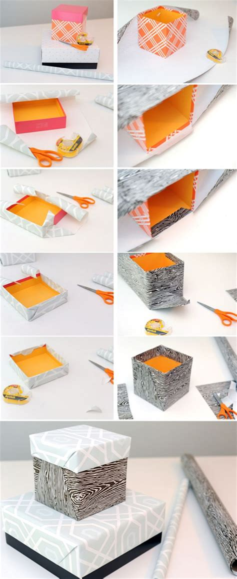 How To Make A Paper Home - home dzine craft ideas how to cover up a plain box