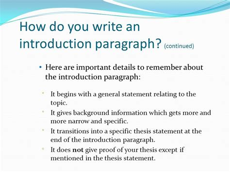 how to write a introduction for a research paper how to write an introduction paragraph for a research