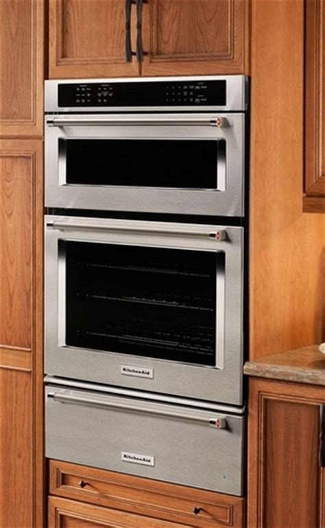 Wall Oven With Warming Drawer Combo by Koce507ess Kitchenaid 27 Quot Combination Wall Oven With Even
