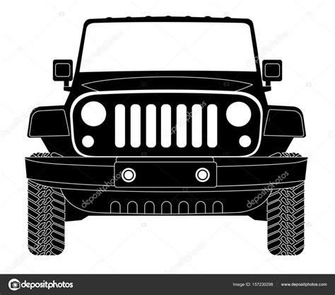 jeep silhouette jeep silhouette in front stock vector 169 leonardo255