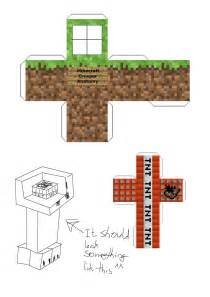 Minecraft Template by Creeper Anatomy Papercraft Template 2 By Dornogol On