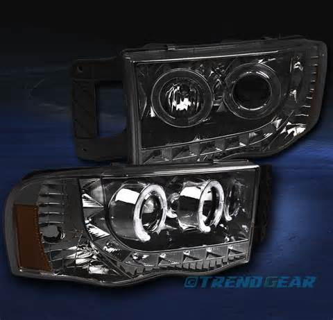 Headlights 2003 Dodge Ram 2002 2005 Dodge Ram 1500 2003 2500 3500 Dual Halo Led