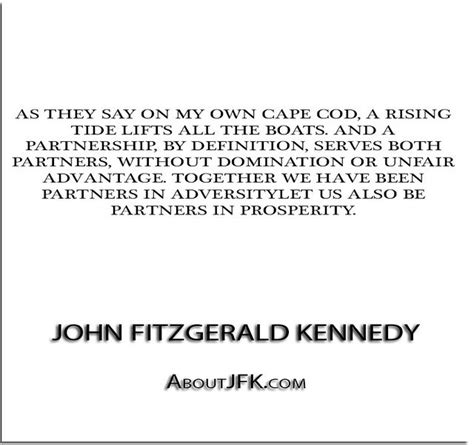did jfk say a rising tide lifts all boats pin by quotes everlasting on quotes pinterest