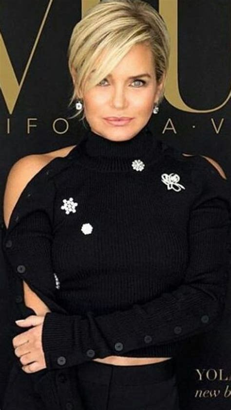 yolanda foster is loving her easy short hair 17 best images about house wifes tv show on pinterest