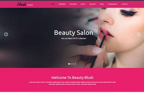 download hair salon beauty salon responsive website template free download