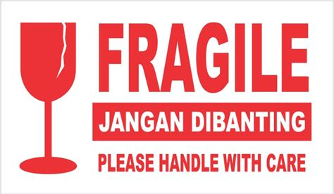 Jual D   Sticker Fragile / Jangan Dibanting / Please