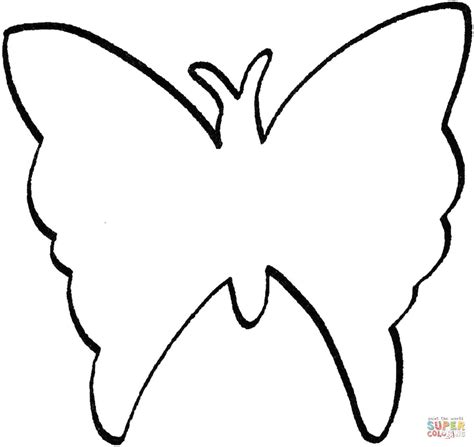 Outline Of A To Color by Butterfly Outline Coloring Page Supercoloring