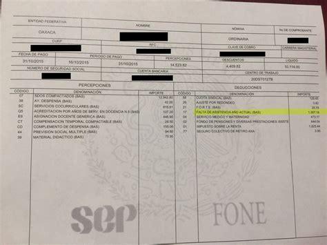 talones de pago descuentan hasta 2500 pesos a faltistas 187 eje central