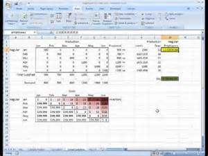 aggregate planning on microsoft excel transportation