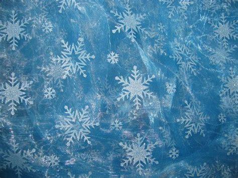 Frozen Sky Blue frozen elsa sky blue organza snowflake fabric by the yard