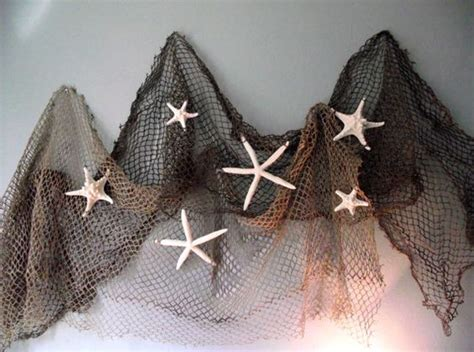 Fishnet Decorating Ideas by Deluxe Coastal Nautical Home Decor Starfish