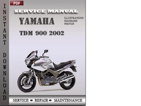 Yamaha Tdm 900 2002 Service Repair Manual Download Tradebit