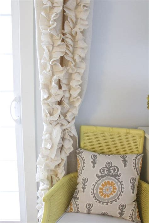 how to sew burlap curtains remodelaholic no sew magnetic window covering