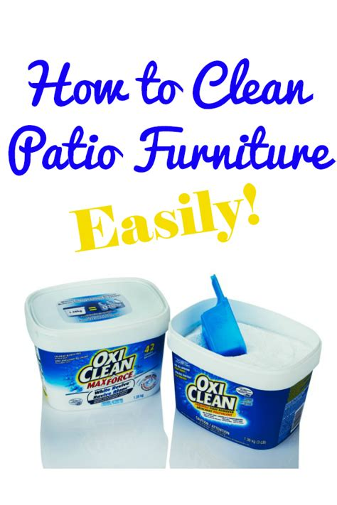 how to clean upholstery with oxiclean how to clean patio furniture simply stacie