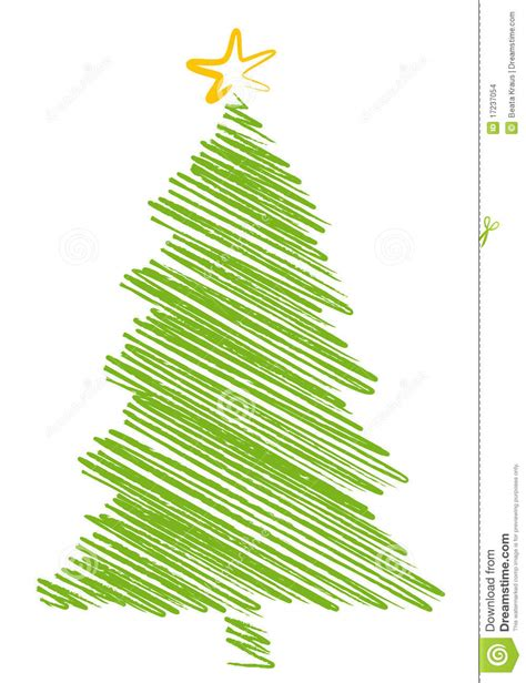 christmas tree scribble stock images image 17237054