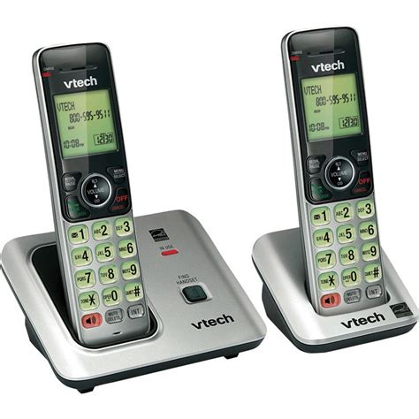 vtech 2 handset cordless phone system with caller id and