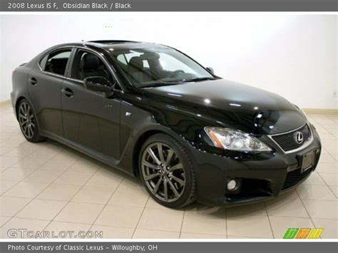 black lexus 2008 obsidian black 2008 lexus is f black interior