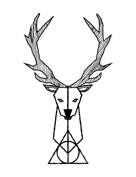 Deathly Hallows Stag design by grant spanier harry potter x stag