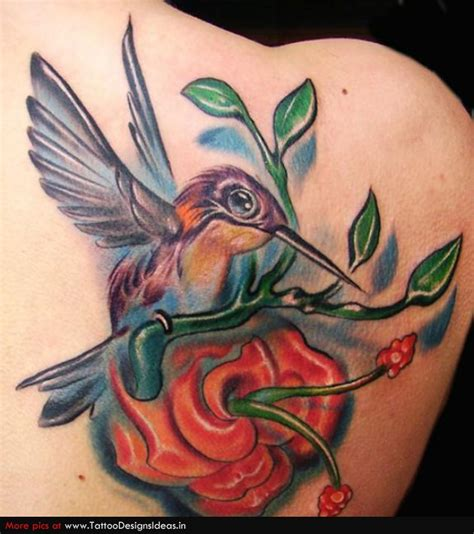 tattoo flower with birds humming bird tattoos hummingbird tattoos with flowers