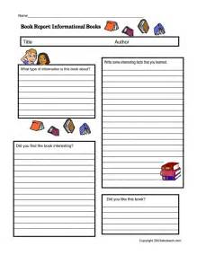 non fiction book report form pdf homeschooling resources