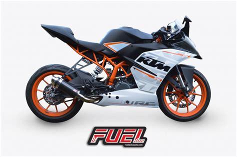 Ktm Rc 390 Akrapovic Rc 390 2014 15 Motorbike Exhausts Fuel Exhausts
