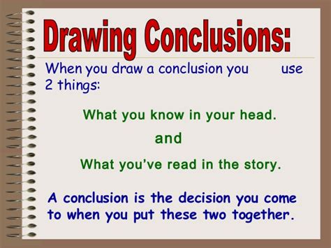 What To Write In The Conclusion Of An Essay by Drawing Conclusions Ppt