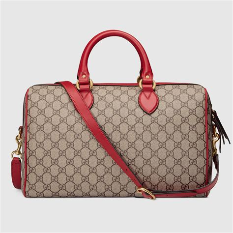 Gucci Limited Edition limited edition gg supreme top handle bag with embroideries gucci monogramming 409527k8kcg9789