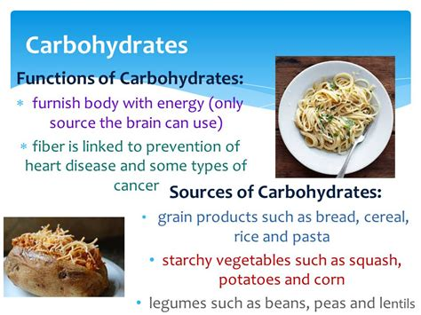 carbohydrates 4 functions chapter 6 getting and using nutrients ppt