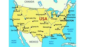 physical map united states and canada preparation for