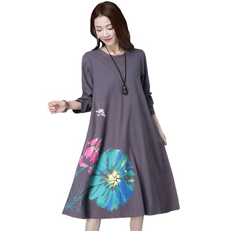 Longdress Blue Big Size Limited sleeve maternity dress large size clothes for dresses casual o neck