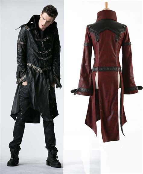 Jaket Coat Blazer Model Black Style Impor 3 Mens Black Or Pleather 3 4 Coat Steunk Buckle