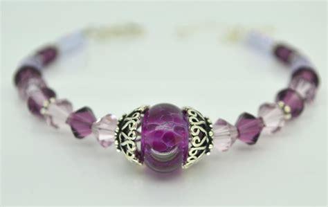 purple beaded bracelet free shipping purple bracelet lwork glass amethyst