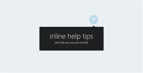 css div inline create inline help tips for your site with a bit of css