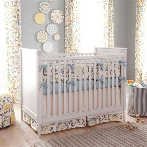 designer crib bedding spa pom pon play crib bedding gender neutral baby