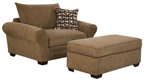 Living Room Chair And Ottoman Set 5460 Large Chair And A Half Ottoman Set For Casual Styled Living Room Comfort By