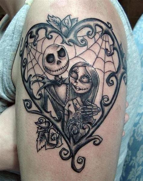 jack and sally tattoos 25 skellington tattoos 183 skullspiration skull
