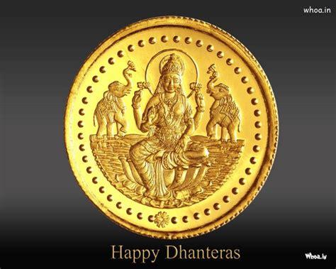 happy dhanteras  gold coin  goddess lakshmi hd
