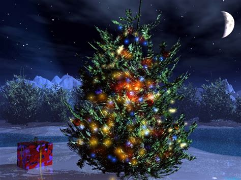 christmas tree backgrounds wallpapers win10 themes