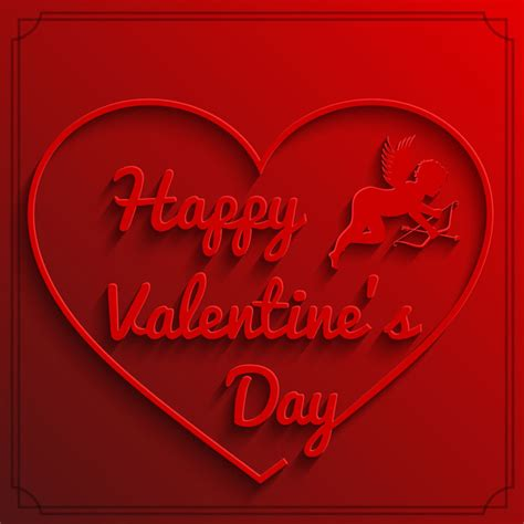 happy valentines day images 3d 3d happy day background free vector in