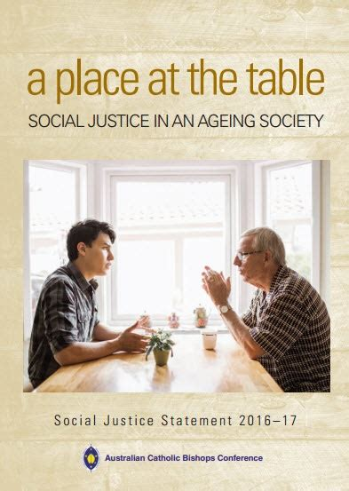 A Place At The Table Summary by Catholic Diocese Of Bathurst Social Justice Statement