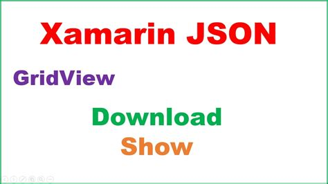 Xamarin Restsharp Tutorial | xamarin android json ep 02 gridview fetch async show
