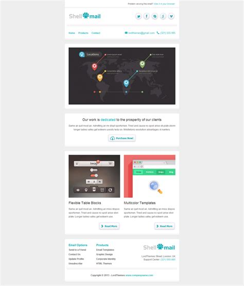 shellmail responsive email template by lordthemes on
